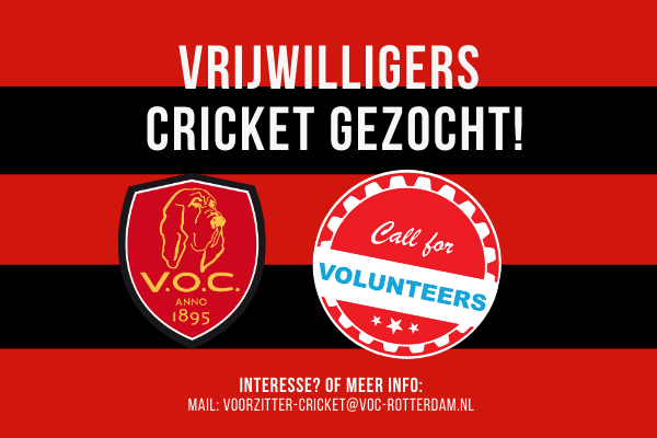 Vrijwilligers cricket gezocht