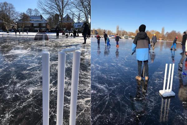 Wereldwijd aandacht voor V.O.C. cricket op ijs
