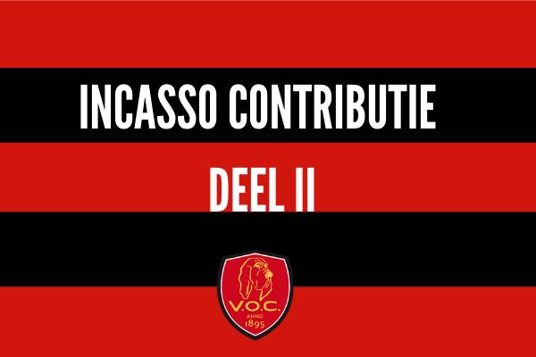 Incasso 2e deel van de contributie