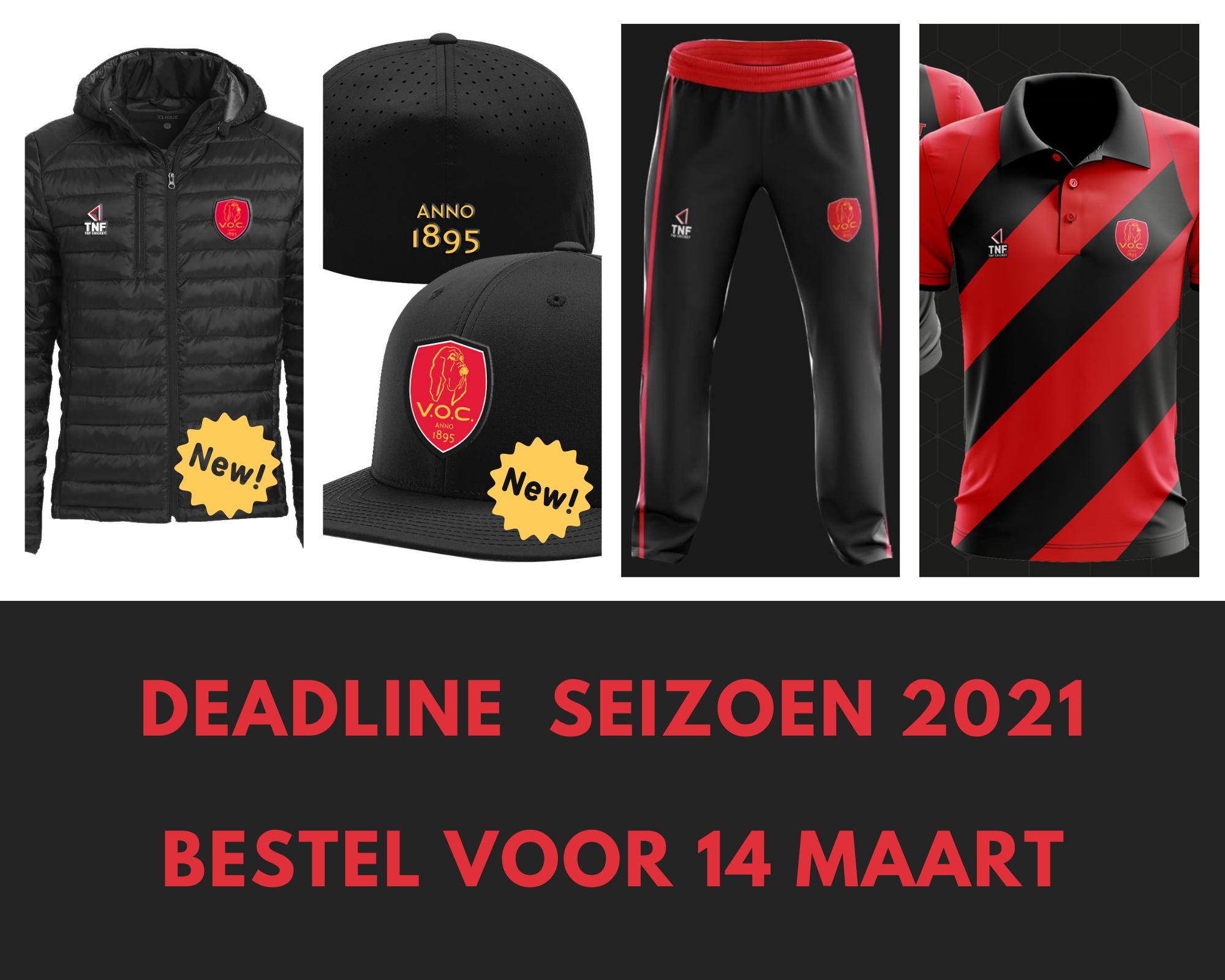 Cricket kleding bestellen tot 14 maart