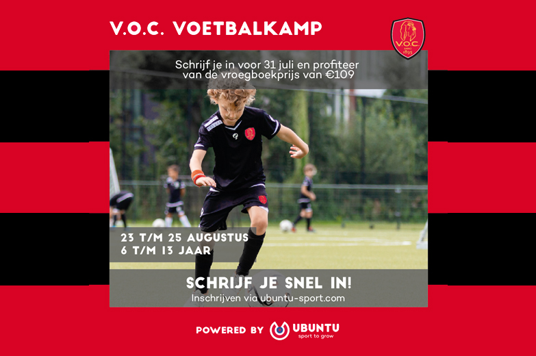 Inschrijven V.O.C. voetbalkamp